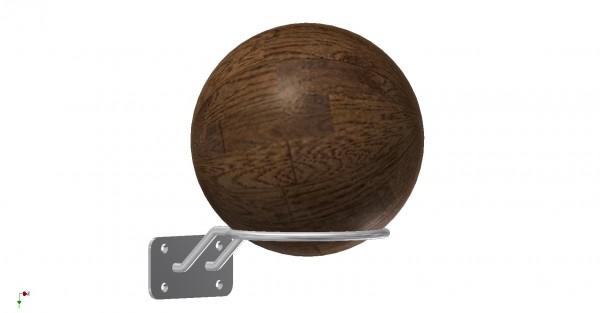 Wandhalterung für Medizinball aus Edelstahl