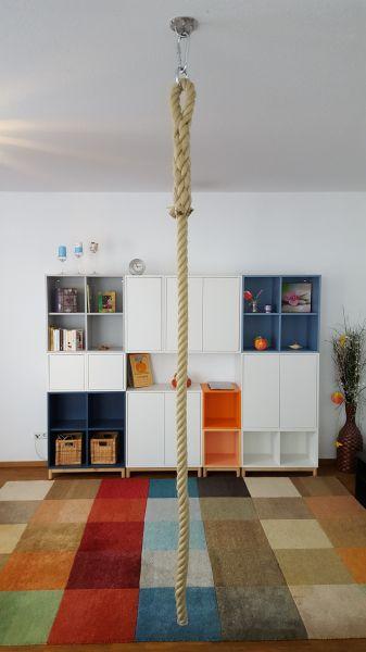 Klettertau für Kinder, mit Augspleiß und Karabiner
