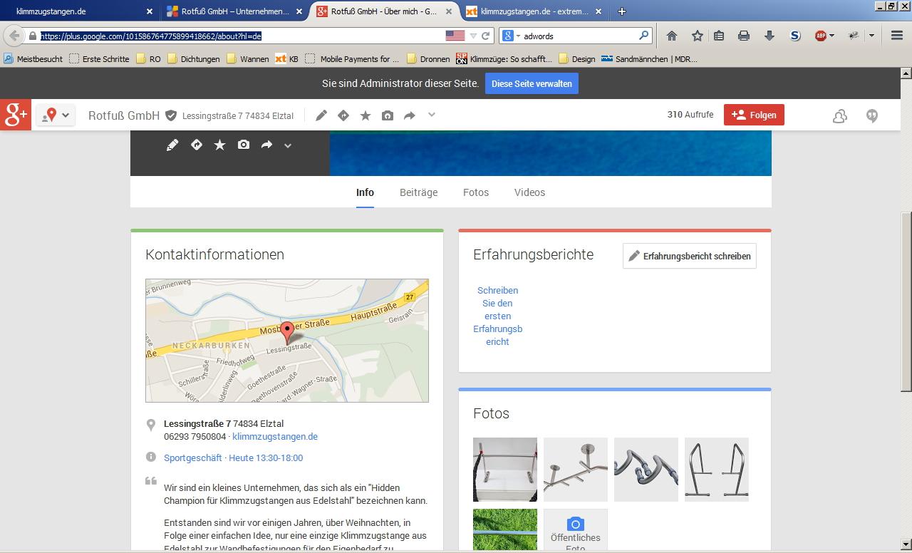 klimmzugstangen.de|Rotfuß GmbH bei Google+